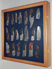 Knife Shadow Box / Display Case with glass door, Wall Mountable, KC04-OA