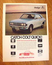 1972 Dodge Colt Ad   Catch Colt Quick!