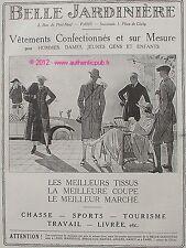 PUBLICITE BELLE JARDINIERE VETEMENT CHASSE SPORT TRAVAIL GOLF DE 1923 ADVERT PUB