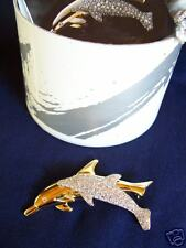New Swarovski Member's Only 1992 Dolphin Pin # Scbnr1 !