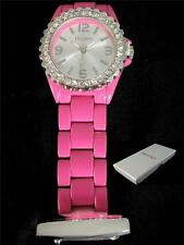 Fashionable Quartz Hot Pink Beautician/ Nurses Fob Watch