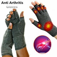 Magnetic Anti Arthritis Compression Therapy Gloves Wrist Glo Support Sports L7C8
