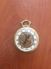 RARE VINTAGE DUGENA 17 JEWELS MECHANICAL POCKET WATCH GOLD PLATED SWISS MADE