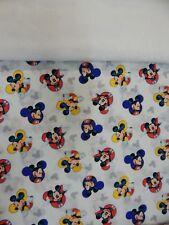 Mickey Mouse Blanket - Bassinet Pram Capsule Moses Basket Minkee Fleece Back