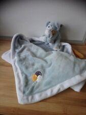 Doudou couverture chien bleu ballons Achille Noukie's Noukies état neuf