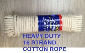 4mm cotton rope washing clothes pulley line traditional 10-15-20-25-30 meter