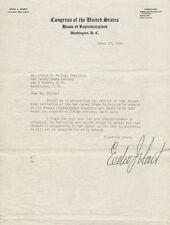 EDWARD J. HART - TYPED LETTER SIGNED 03/17/1939