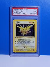 Mint Psa 9 First Edition Zapdos 15/62 Holo Pokemon Card Fossil 1st Ed