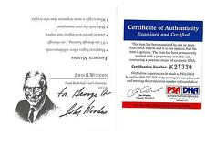 "John Wooden Signed Pyramid of Success Card ""For George"" Auto PSA/DNA #K27330"