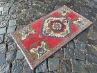 Small rug, Geometric handmade rug, Turkish rug, Kitchen rug | 1,6 x 2,8 ft