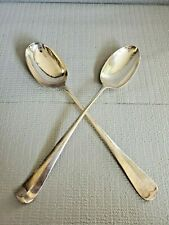 Silverplate Sheffield England Silver Plate Large Serving Spoons Set of 2