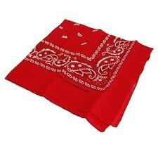 Red Bandana Neckerchief Wild Cowboy Cowgirl Fancy Dress Accessory