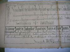 litho ancienne 1750 écriture cursive capétienne gothique traité diplomatique