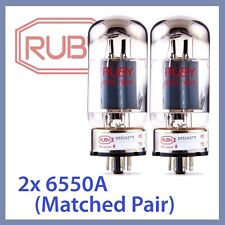 2x NEW Ruby 6550A-STR 6550ASTR Vacuum Tubes, Matched Pair TESTED