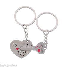 1 Pair Zinc Alloy Couple Key Chain Engrave Words Keyring
