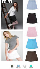 Cotton Patternless Short/Mini Plus Size Skirts for Women