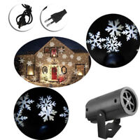 Garden Xmas Outdoor LED Light Moving Snowflake Landscape Laser Projector Lamp UK