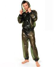 100% Latex Rubber Gummi Jacket Jacke Pants Hose Catsuit Ganzanzug Uniform Kostüm