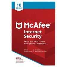 McAfee Internet Security 2020 10 Devices 1 Year - Delivery by Email*