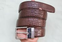 New Casual Men's Belt Genuine Alligator ,Crocodile Leather Skin Brown #TGN091