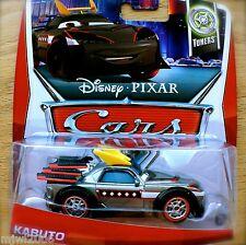 Disney PIXAR Cars KABUTO on 2013 TUNERS THEME CARD diecast 2/10 Tokyo drift