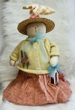 Artisan Hollyhock Gardens Stand Up Doll Primitive Bunny Female