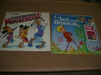 Walt Disney Mousercise (62516) LP With Booklet Good Condition + Jack Beanstalk