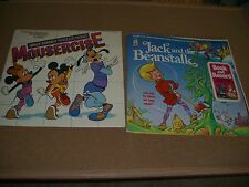 Walt Disney Mousercise (62516) LP With Booklet Good Condition + Jack Beanstalk