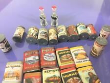 Dollhouse Miniature Grocery Store Lot 35 Pc Vintage Canned Goods Coca Cola Fruit