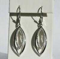Echt 925 Sterling Silber Ohrringe Ohrhänger Zirkonia crystal  Nr 410