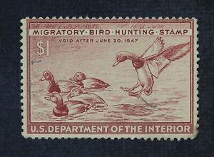 CKStamps: US Federal Duck Stamps Collection Scott#RW13 $1 Mint H OG Tiny Tear