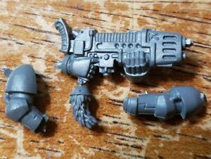 Warhammer 40K Space Marine Bits Venerable Dreadnought Engraved Powerfist w//Arm