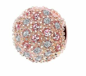 ROSE GOLD COSMIC PINK STARS CLIP CHARM GENUINE CZ STONES LIMITED QUANTITY SALE