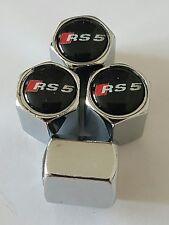 AUDI Wheel Valve Dust caps CHROME ALL COLORS ALL MODELS S LINE RS TT RS5 blk top