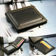 Men's Bi-fold Leather Wallet ID Credit Card Holder Pockets Purse Flap Billfold