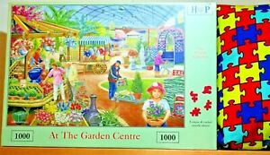 House of Puzzles HOP At the Garden Centre 1000 Pc Jigsaw Puzzle New Sealed MC176