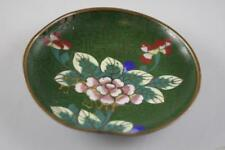 ANTIQUE EARLY 20th Century CHINESE CLOISONNE FLORAL MOTIF SMALL DISH