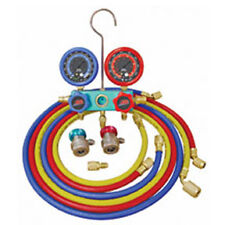 Deluxe Dual Aluminum A/C Manifold Gauge Set with 96