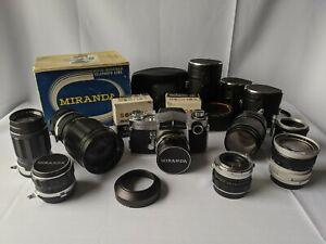 Große Miranda Sensorex Sammlung - Kamera + 8 Objektive + Zubehör - Konvolut