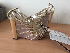 Christian Dior Gold 36 Uk 3 Wedges, Summer Heels, Stunning!