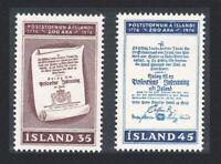 Iceland Bicentenary of Icelandic Postal Services 2v 1976 MNH SG#547-548