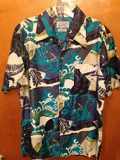 Vintage Don Loper of California Hawaian Shirt  mens size M  cotton USA made