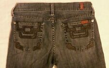 Seven 7 for all Mankind 27 / 30 x 35 long blue bell bottom flare boot cut jeans
