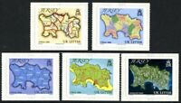 JERSEY 2010 MAPS SELF ADHESIVES SET OF ALL 5 COMMEMORATIVE STAMPS MNH