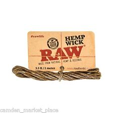 RAW Hemp Wick 3.3ft 1meters Beeswax Alternative To Butane Gas Cigarette Lighters