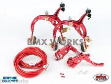 Dia-Compe MX1000 - MX121 Red Brake Set - Old Vintage School BMX