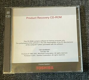 Toshiba Satellite 1800 - Product Recovery 2 x CD-ROM's