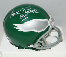 VINCE PAPALE AUTOGRAPHED SIGNED PHILADELPHIA EAGLES THROWBACK MINI HELMET JSA