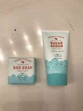 New! 99% Natural Hand In Hand Sustainable Suds Bar Soap & Exfoliate + Brighten