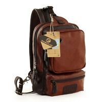 Men's Vintage PU Leather Satchel School Bag Shoulder Messenger Bags Handbag Tote